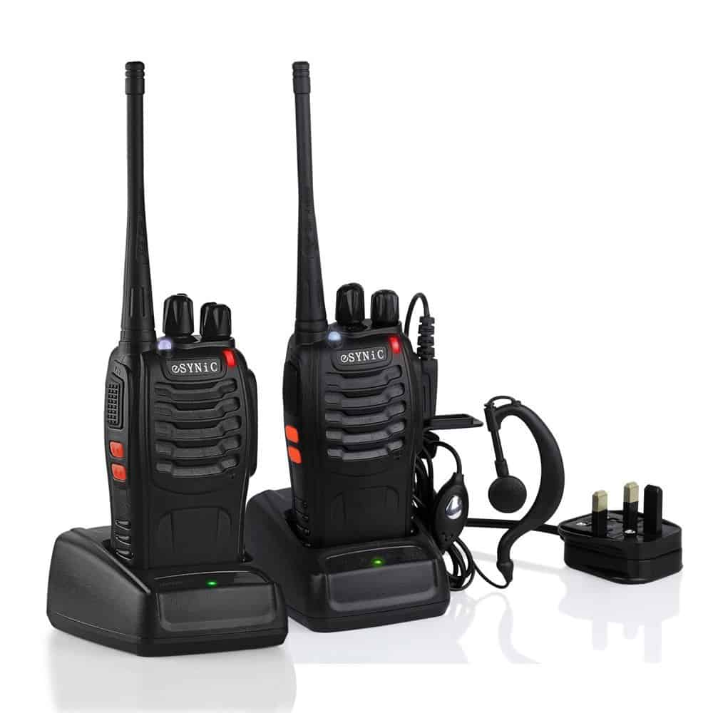eSynic Walkie Talkie 2 Pieces Long Range Two-way Radio