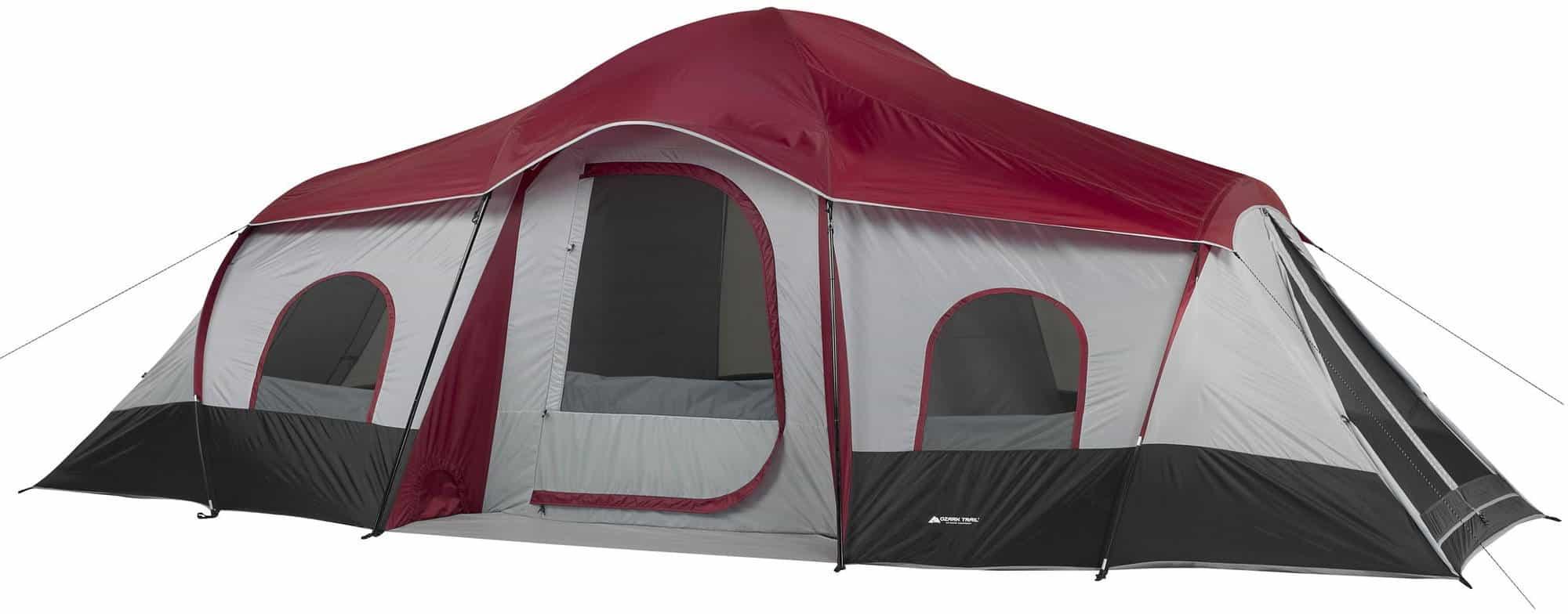 Ozark Trail 10-Person 3-Rppm Family Cabin Tent